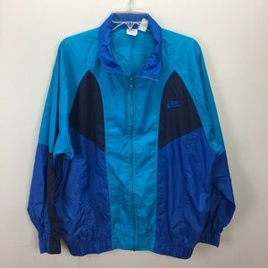 Vintage Nike Blue Colorblock Jacket Windbreaker